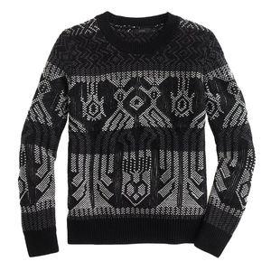 J.CREW Mixed Stitch Crochet Gray Knit Blanket Top